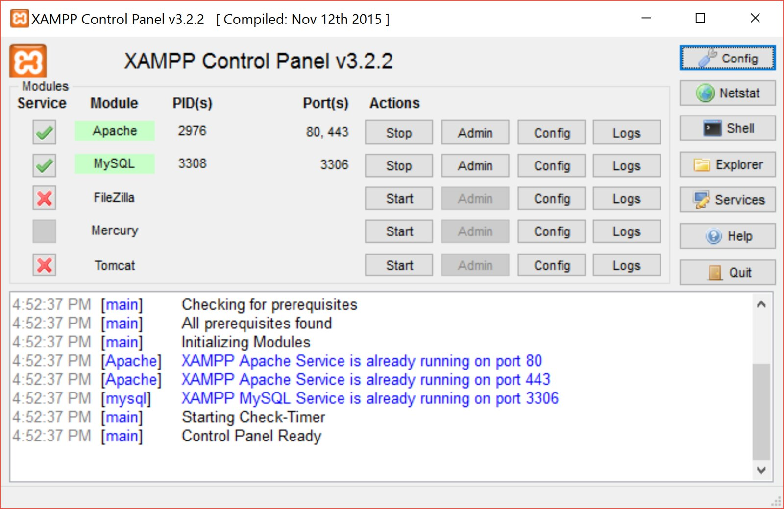 How to update XAMPP for Windows