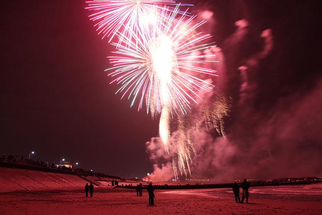 Aberdeen Beach Fireworks 5th November 2014