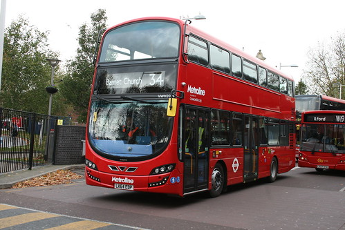 Metroline VWH2029 on Route 34, Walthamstow Central