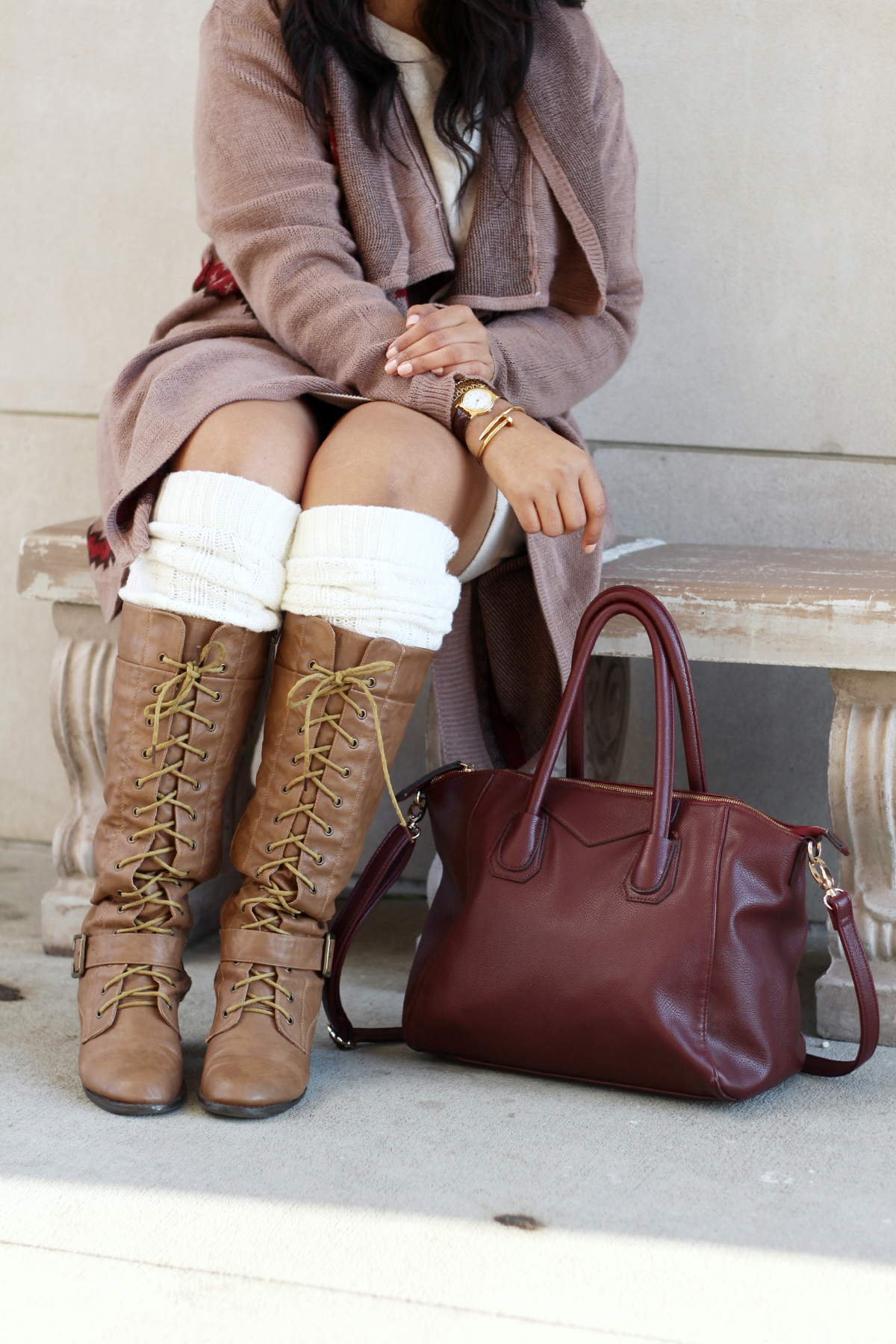 Lace Up Boots & Boot Socks