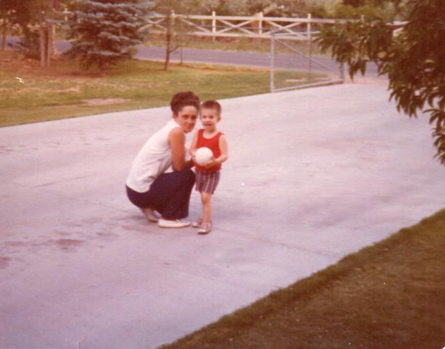 Me and Grandma on her driveway