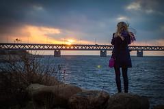 Sunset at Öresund Bridge