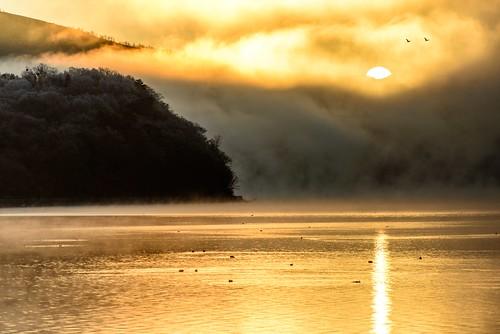 sunrise 日の出 山中湖 yamanakako