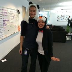 HR panda and penguin! #halloween #costume