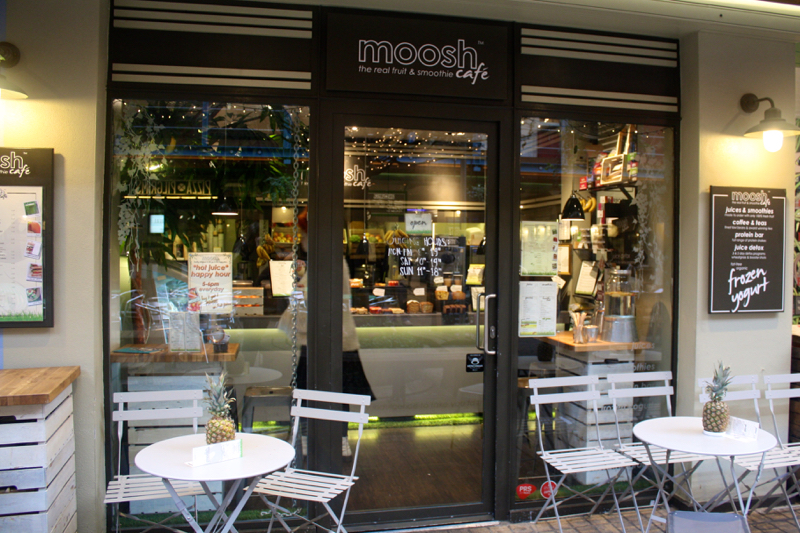 Moosh Smoothie shop in Kingly Court, Carnaby Street