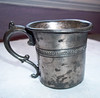 Victorian handmade silver plate baby cup