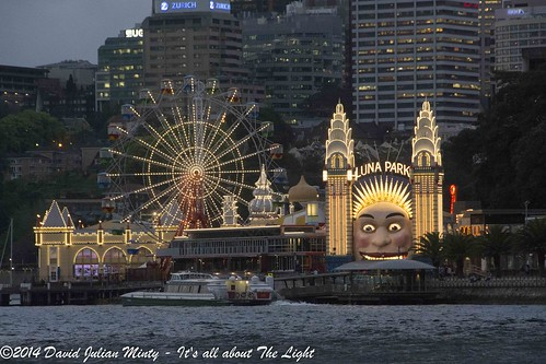 Luna Park from Sydney Harbour