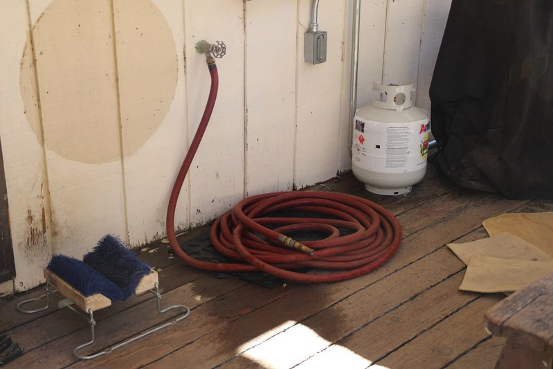 Water hose at the ranger station in Long Valley