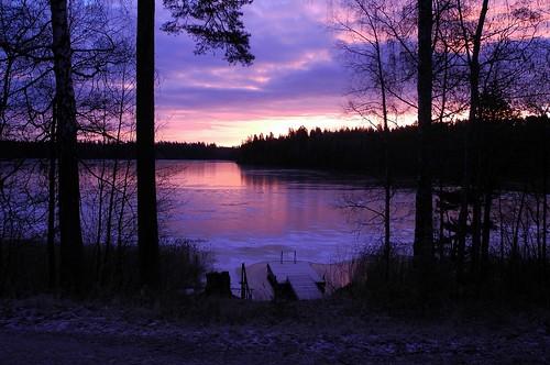 november sky cloud lake ice clouds sunrise finland geotagged purple v bluehour fin uusimaa vihti 2013 vichtis palojärvi 201311 20131130 geo:lat=6027953612 geo:lon=2435606667