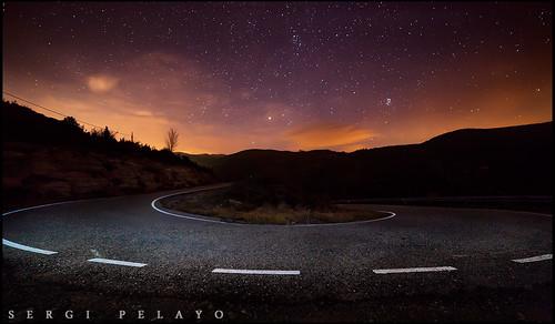 road españa night stars landscape noche spain carretera paisaje estrellas nocturna 5d catalunya cataluña alturgell 14mm 5dmarkii samyang14mm28