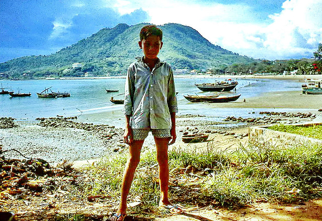 Vietnamese Boy on Front Beach in Vung Tau 1967 - Photo by Bruce Tremellen