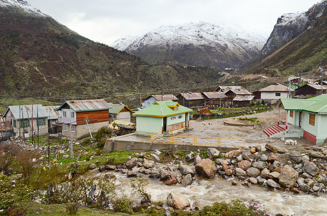 Sikkim's Thangu Village, surrounded by the Himalayas