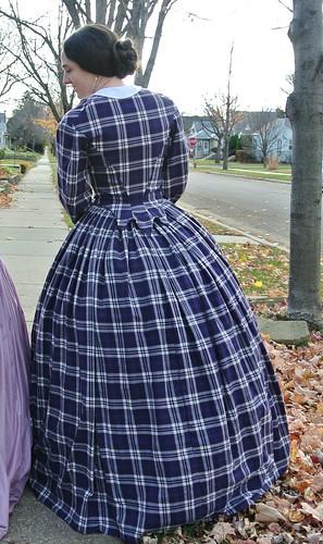 plaid dress 013