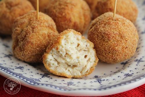 Bolitas de pollo, queso y mostaza www.cocinandoentreolivos.com (2)