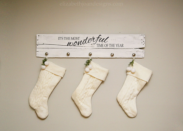 The Most Wonderful Time Of The Year Stocking Hanger Elizabeth Joan