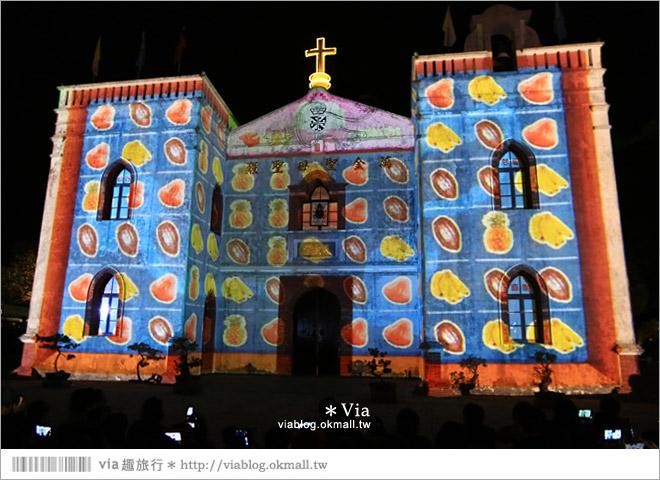 【萬金教堂】屏東萬金教堂聖誕季~3D光雕秀+耶誕地景藝術/全台最濃耶味小鎮!19