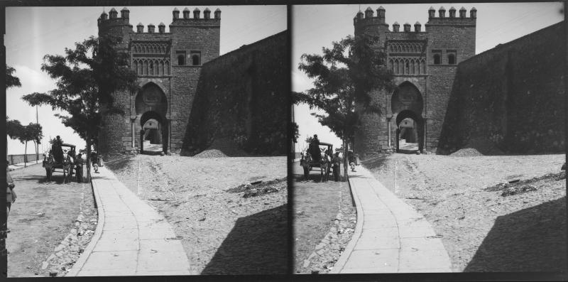 Puerta del Sol hacia 1900. Fotografía de Alois Beer © Österreichische Nationalbibliothek