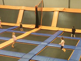 Kids bouncing