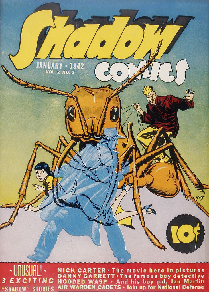 Shadow Comics V2#2 Mile High pedigree (Street & Smith, 1942) Vernon Greene Cover