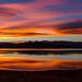 Sunrise This Morning at Topaz Lake by Jeffrey Sullivan