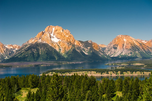 usa montagne nationalpark lac wyoming