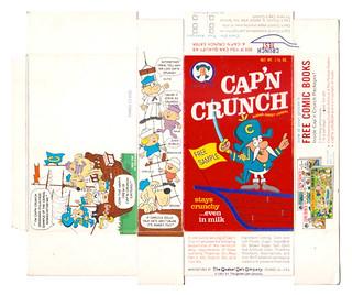 "1963 Quaker Cap'n Crunch single serve ""Free Sample"" cereal box"