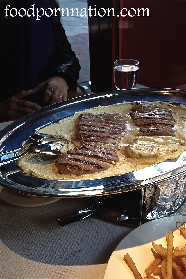 Steak with Cafe de Paris Butter Sauce - Chez Boubier