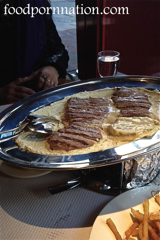 Steak with Cafe de Paris Butter Sauce - Chez Boubier