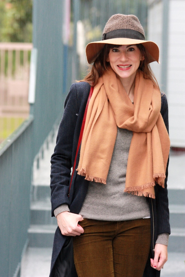 Neutral Outfit, Anthropologie Hat