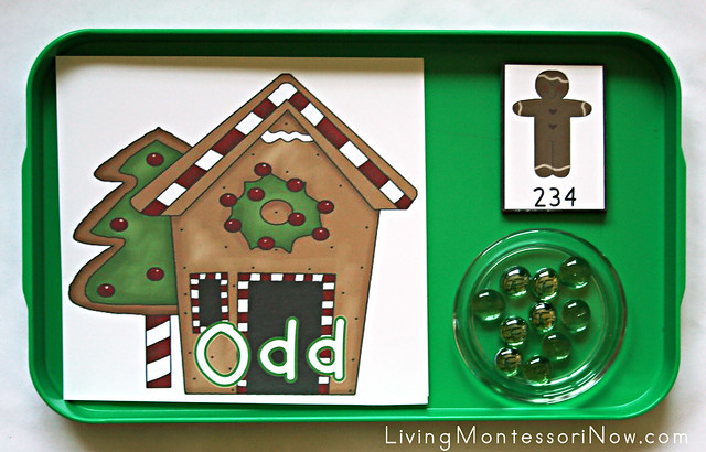 Gingerbread Odd and Even Tray