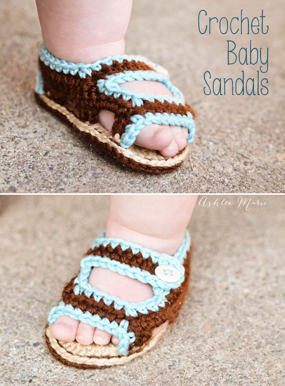 not much cuter than sweet fat baby feet, make these crochet sandals for your little one with a free pattern