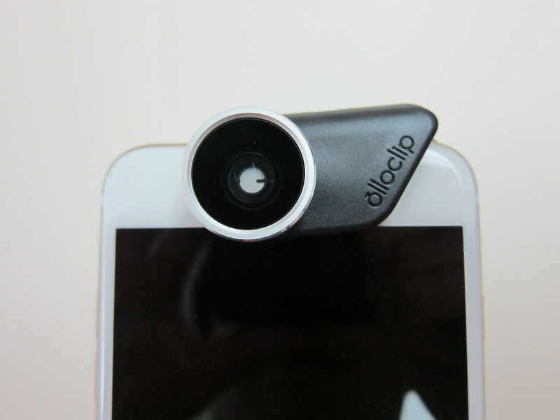 Olloclip 4-in-1 Photo Lens for iPhone 6/6 Plus - Attached To Rear Camera On iPhone 6 Plus Front