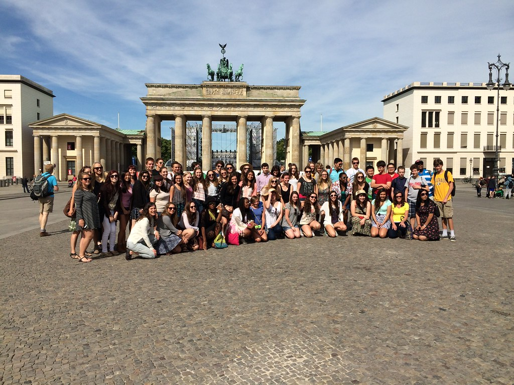Rocky Mountain Children's Choir at the Brandenburg Gate in Berlin