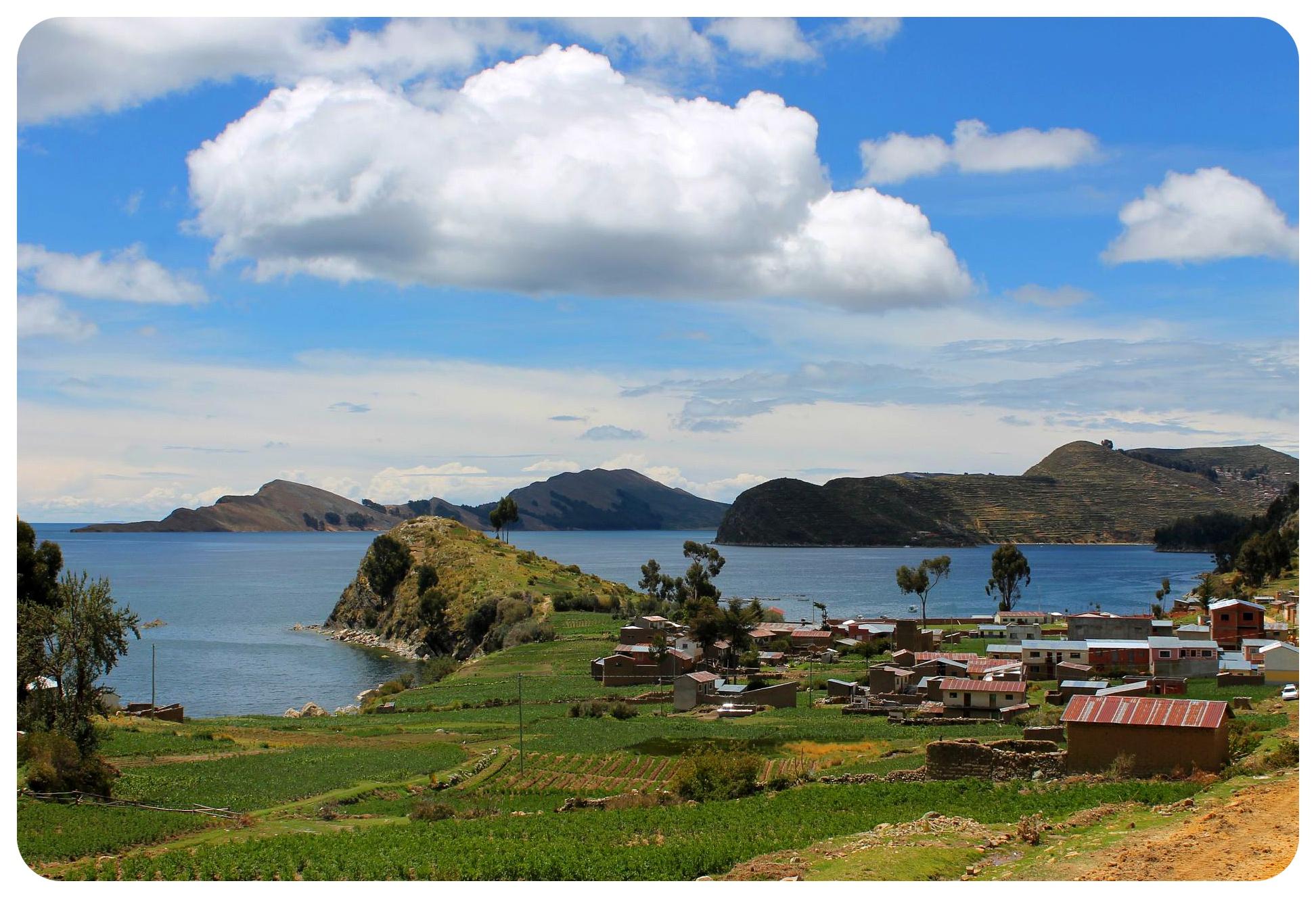lake titicaca yampupata and isla del sol view