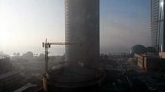 foggy morning, view from the office