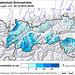Výška sněhu v Tyrolsku 25. 12. 2014