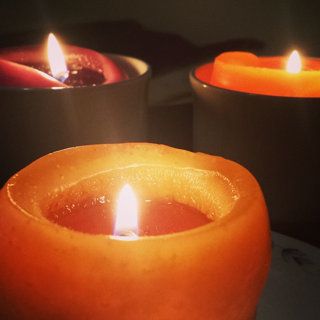 It smells and feels nice in here now. #candles #scented #goodmood #chillzone