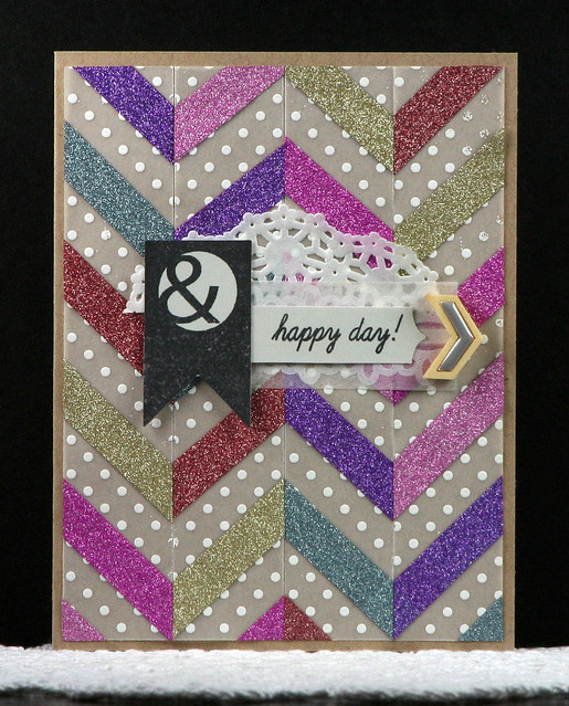 Pinkfresh Glitter Washi Chevron Card | shirley shirley bo birley Blog