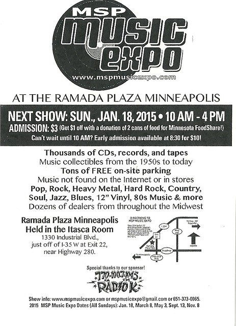 01/18/15 MSP Music Expo @ Ramada Plaza, Minneapolis, MN