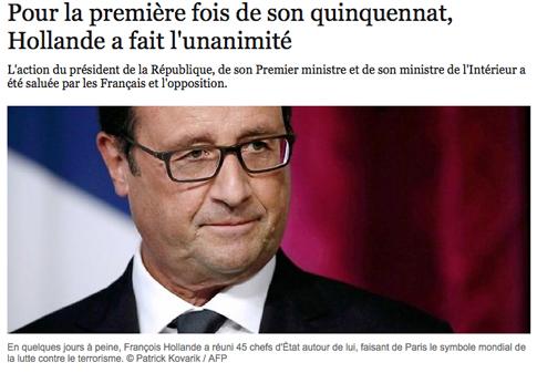 15a16 LPoint Hollande hace la unanimindad por vez primera desde que fue elegido