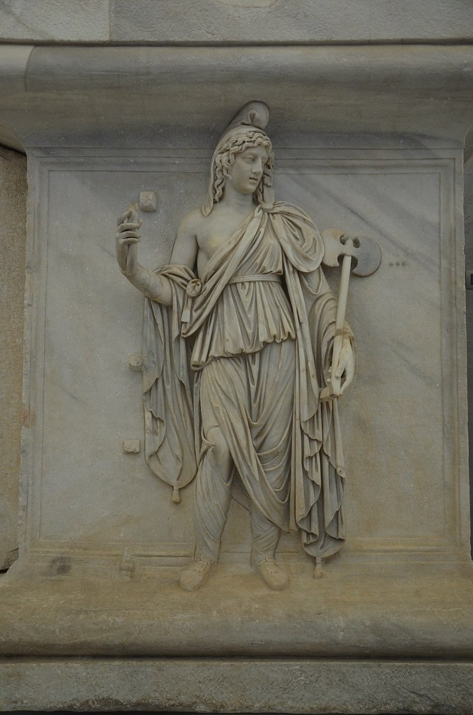 Representation of one of the Roman provinces, Phrygia or Bithinia, relief from the Hadrianeum, a temple of the deified Hadrian in the Campus Martius erected by Antoninus Pius in 145 AD, Naples National Archaeological Museum