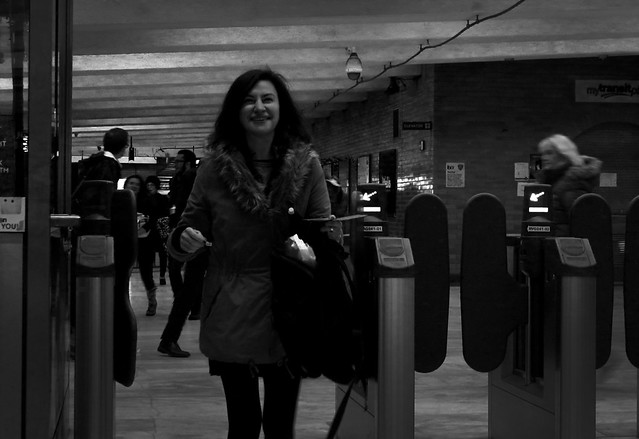 maite at civic center BART station, san francisco (2014)