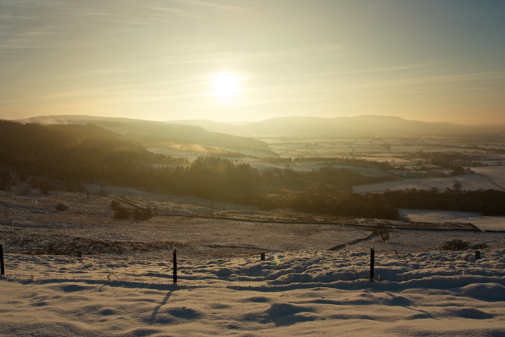 Winter sunshine over Battesby