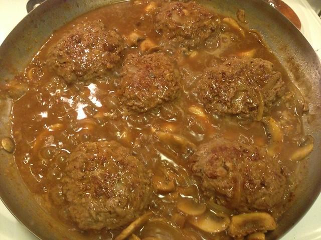 Salisbury steak with mushroom gravy on twothirtyate.com