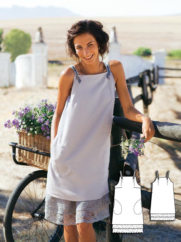 Сшить простое платье из льна