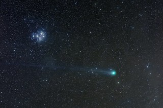 C/2014 Q2 Lovejoy passing the Pleiades