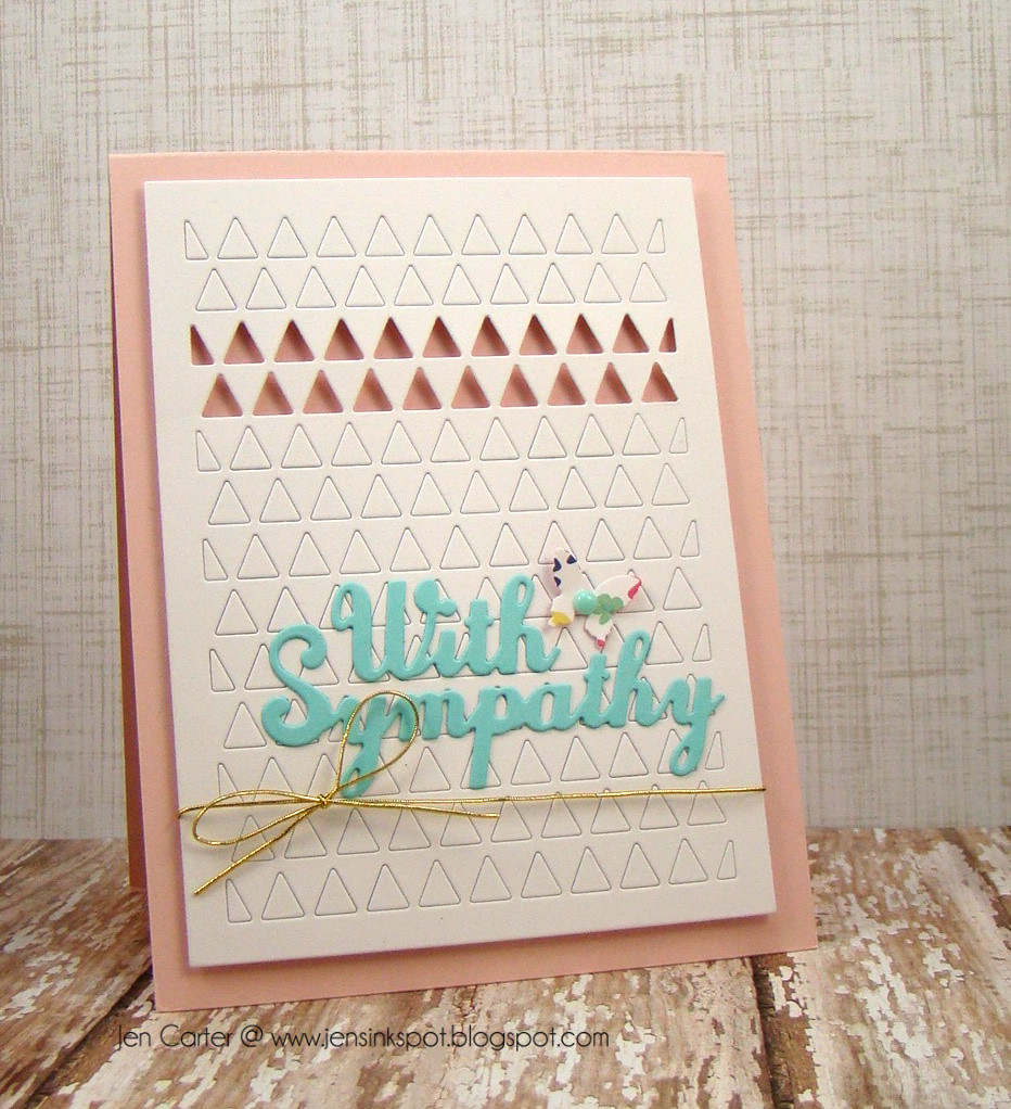 Jen Carter With Sympathy Triangles Frantic Stamper Pink