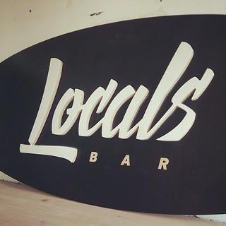 Locals bar sign