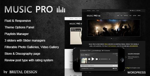 Music Pro v3.3.1 – Music Oriented WordPress Theme