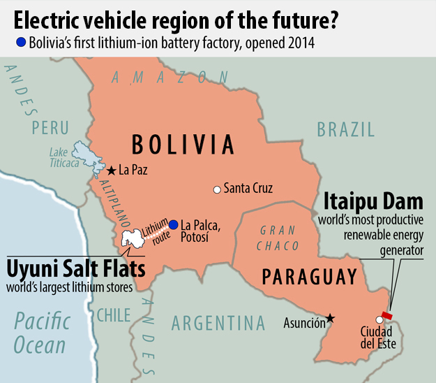 Electric Vehicle Manufacturing Holds Unique Potential For Bolivia - Where is asuncion